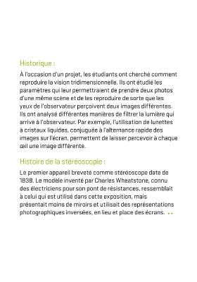 Stéréoscopie - panneau technique 1